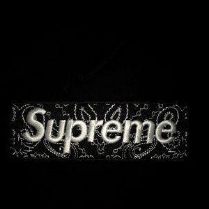Supreme Other - Supreme Black Bandana Box Logo Hoodie